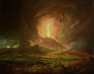 Joseph Wright of Derby, An Eruption of Vesuvius, seen from Portici