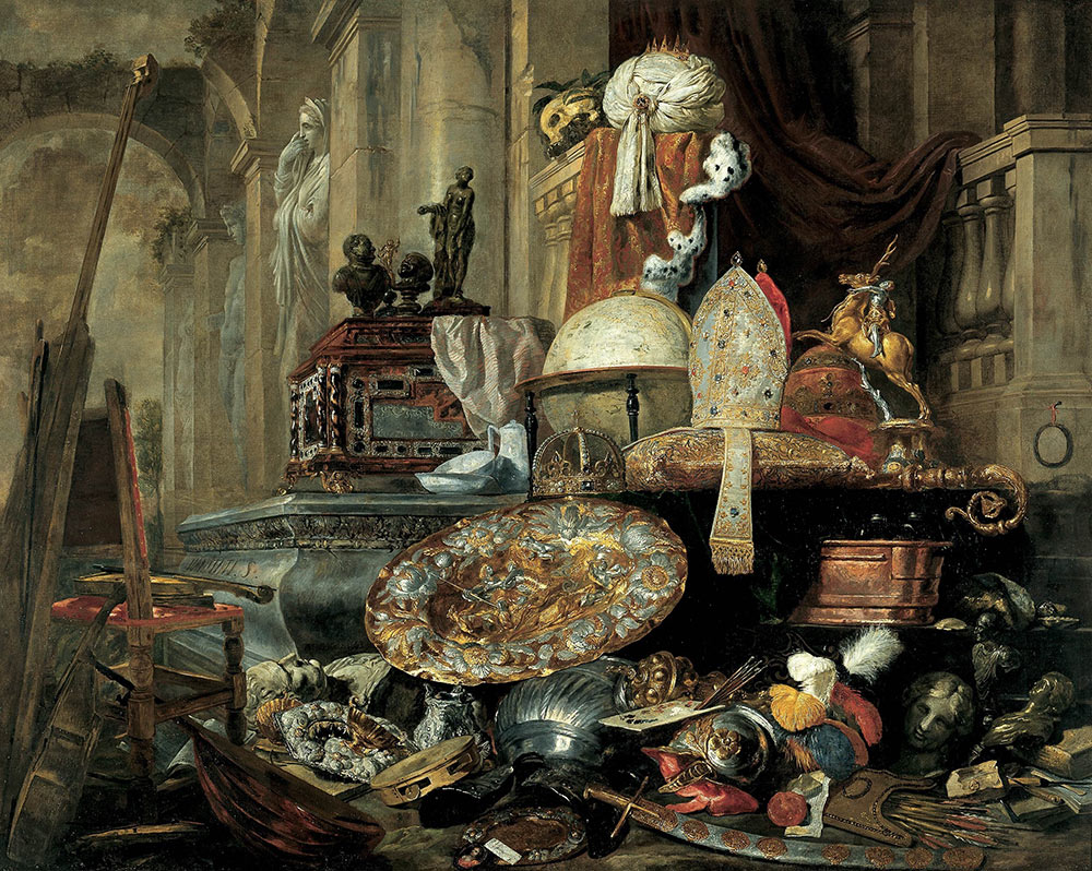 Pieter Boel, Large Vanitas Still Life, 1663, oil on canvas
