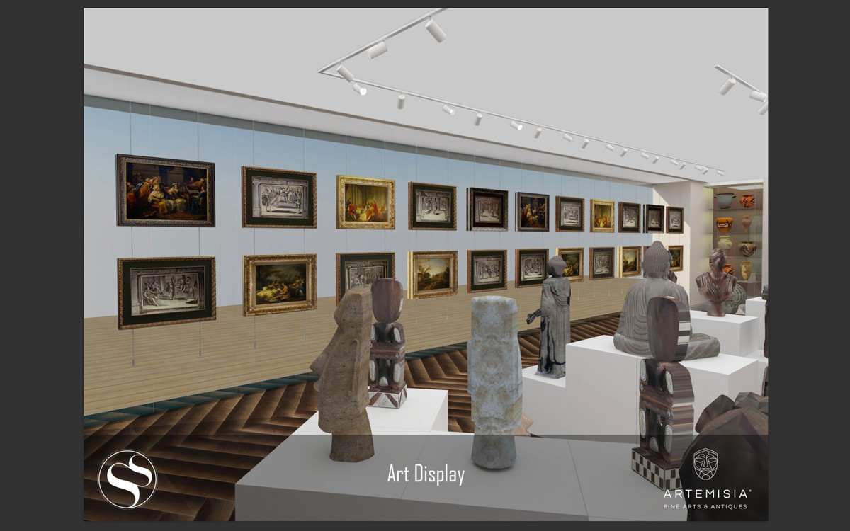 Artemisia Fien Arts & Antiques Gallery in Malta - Renders