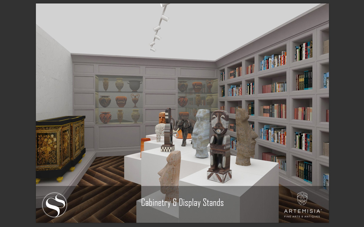 Artemisia Fien Arts & Antiques Gallery - Renders