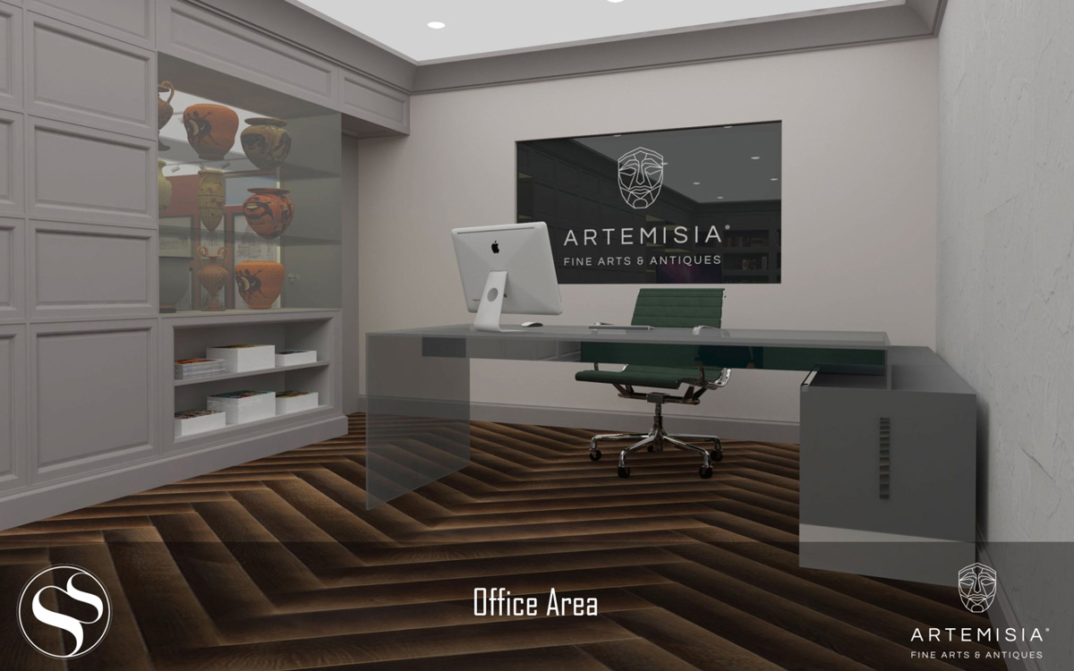 Artemisia Fine Arts & Antiques Gallery in Malta - Renders