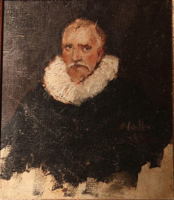 Fig.5-Antoine-Camilleri,-Portrait-after-van-Dyck-1932-Oil-on-Wood,-20x16.5cm