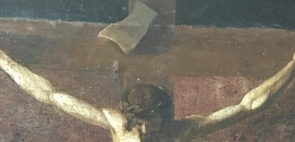Figure 4 Detail of the naively drawn feet from Unknown Southern Italian School, The Crucifixion